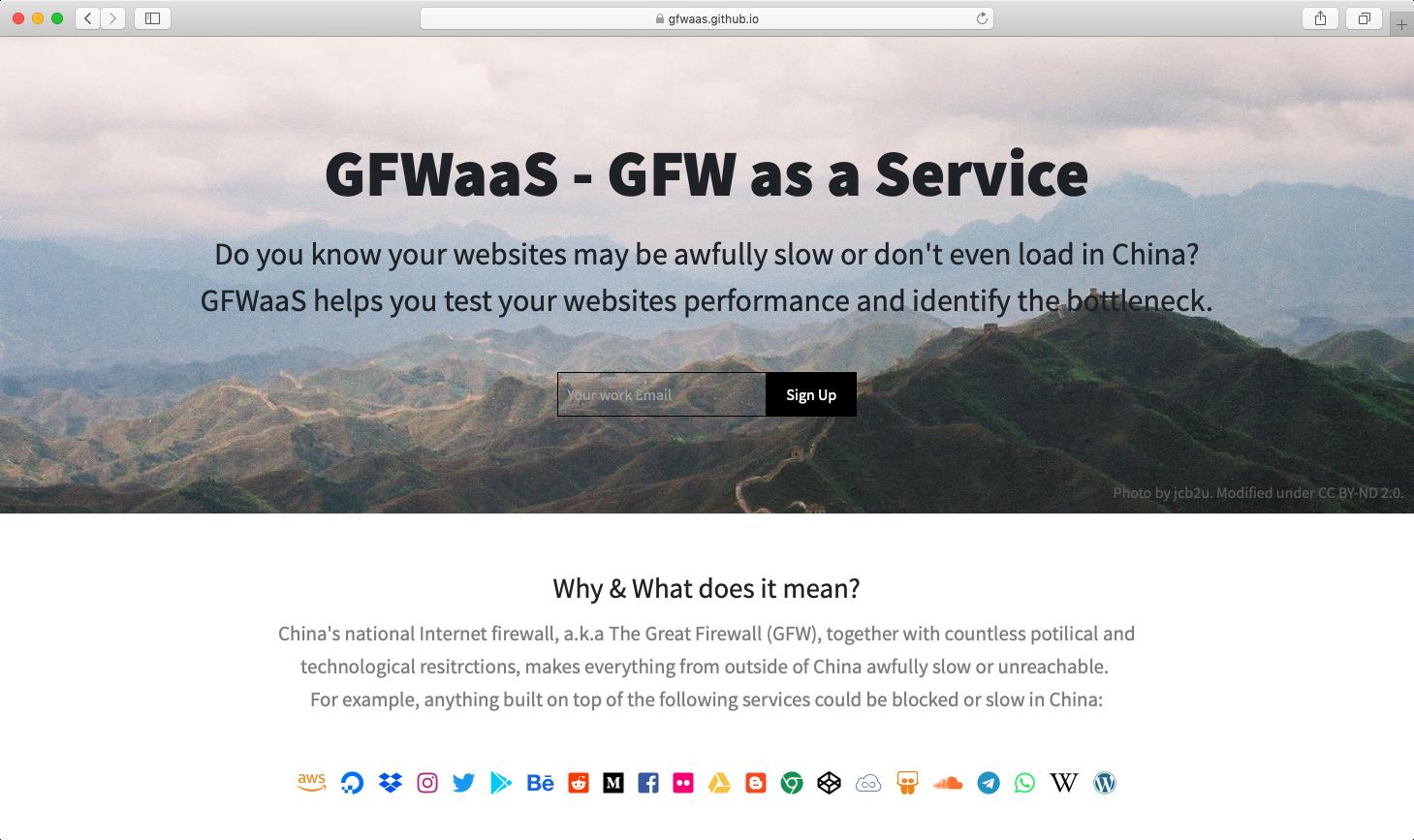 GFWaaS - GFW as a Service